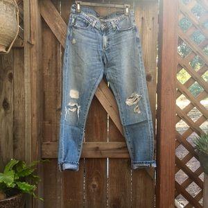 {Lucky Brand} Distressed Sienna boyfriend jeans